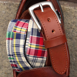 Georgetown Fabric Belt in Classic Madras by T.B. Phelps