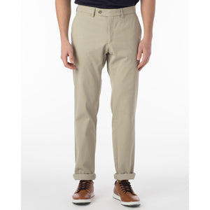 Perma Color Pima Twill Khaki Pants in Stone (Flat Front Models) by Ballin