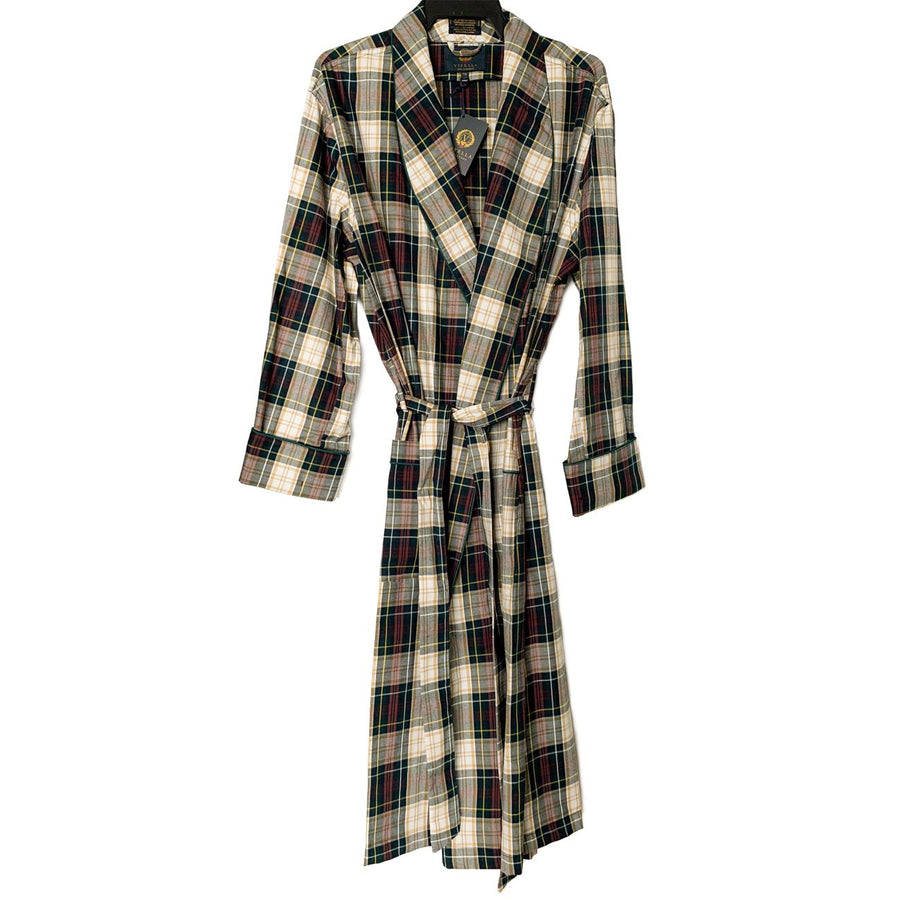 Gentleman's Cotton and Wool Blend Robe in Weathered Campbell Tartan by Viyella