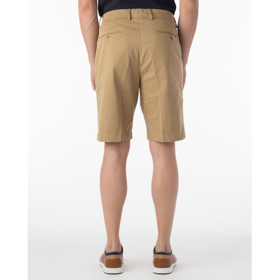 Pima Twill True Khaki Shorts in British Khaki by Ballin