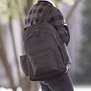 Clark Backpack in Black Leather by Baekgaard