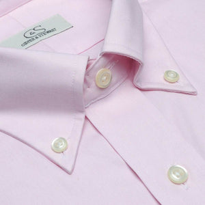 The Standard Pink - Wrinkle-Free Pinpoint Cotton Dress Shirt with Button-Down Collar by Cooper & Stewart