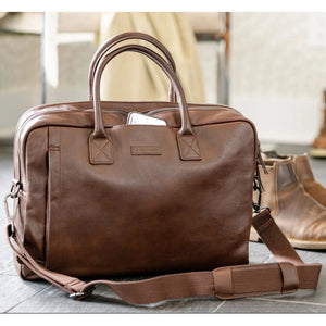Sloan Attaché in Brown Leather by Baekgaard