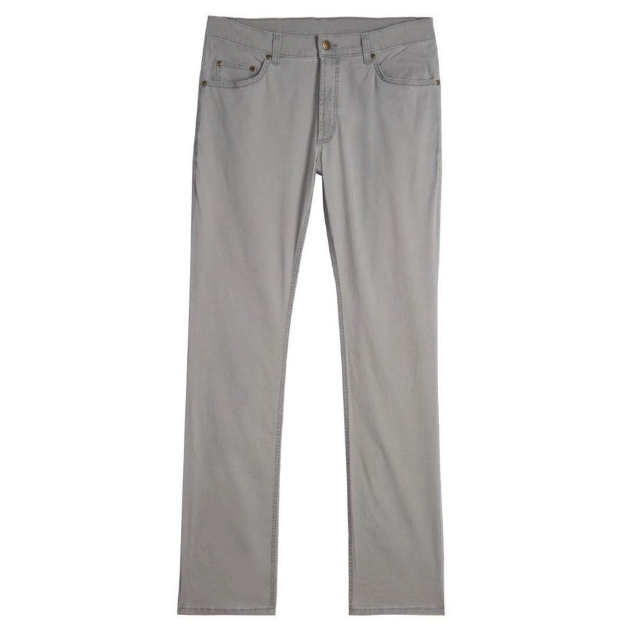 Island Twill 5 Pocket Classic Fit Model in Mercury by Bills Khakis