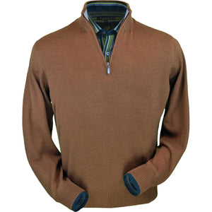 Royal Alpaca Half-Zip Mock Neck Sweater in Vicuña by Peru Unlimited
