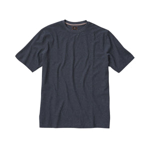 Melange Crew Neck Peruvian Cotton Tee Shirt in Gray Mélange by Left Coast Tee