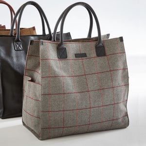 Bob Tote in Grey Tweed by Baekgaard