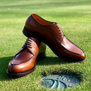 Durham Derby Shoe in Cognac Brown by Armin Oehler