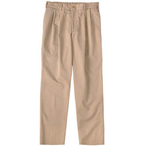 M2P Pleated Classic Fit Original Twills in Khaki by Bills Khakis