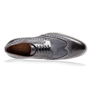 Berlina Wingtip in Anthracite Nubuck by Jose Real