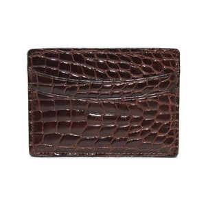 Genuine Alligator Cardcase in Brown by Torino Leather