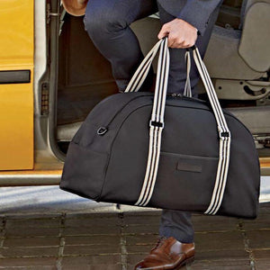 Jimmy Duffel Bag in Black Brushed Microfiber by Baekgaard
