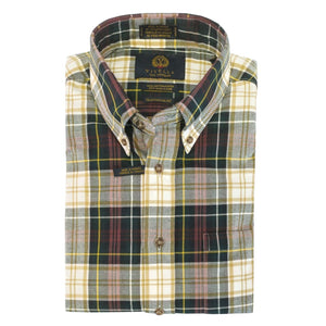 Weathered Campbell Tartan Cotton and Wool Blend Button-Down Shirt by Viyella