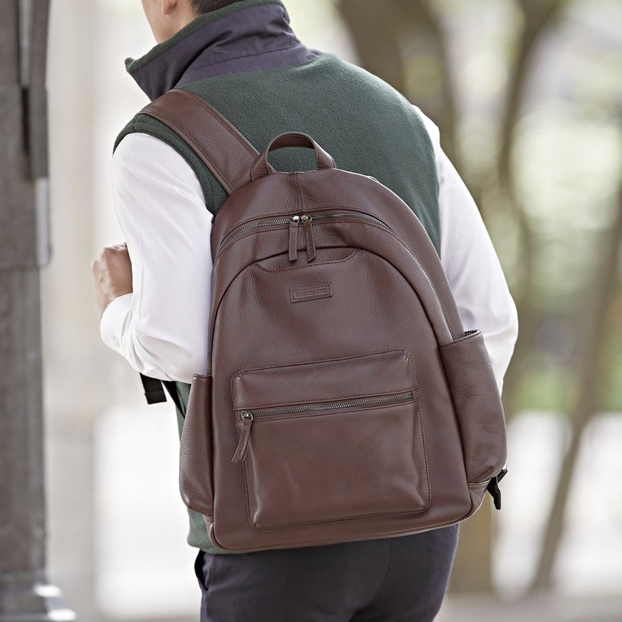 Clark Backpack in Brown Leather by Baekgaard