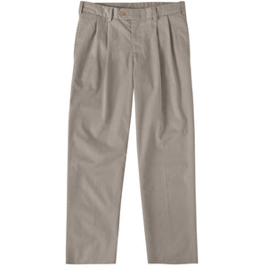 M2P Pleated Classic Fit Travel Twills in Khaki by Bills Khakis