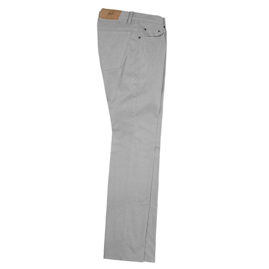 Island Twill 5 Pocket Straight Fit Model in Mercury by Bills Khakis