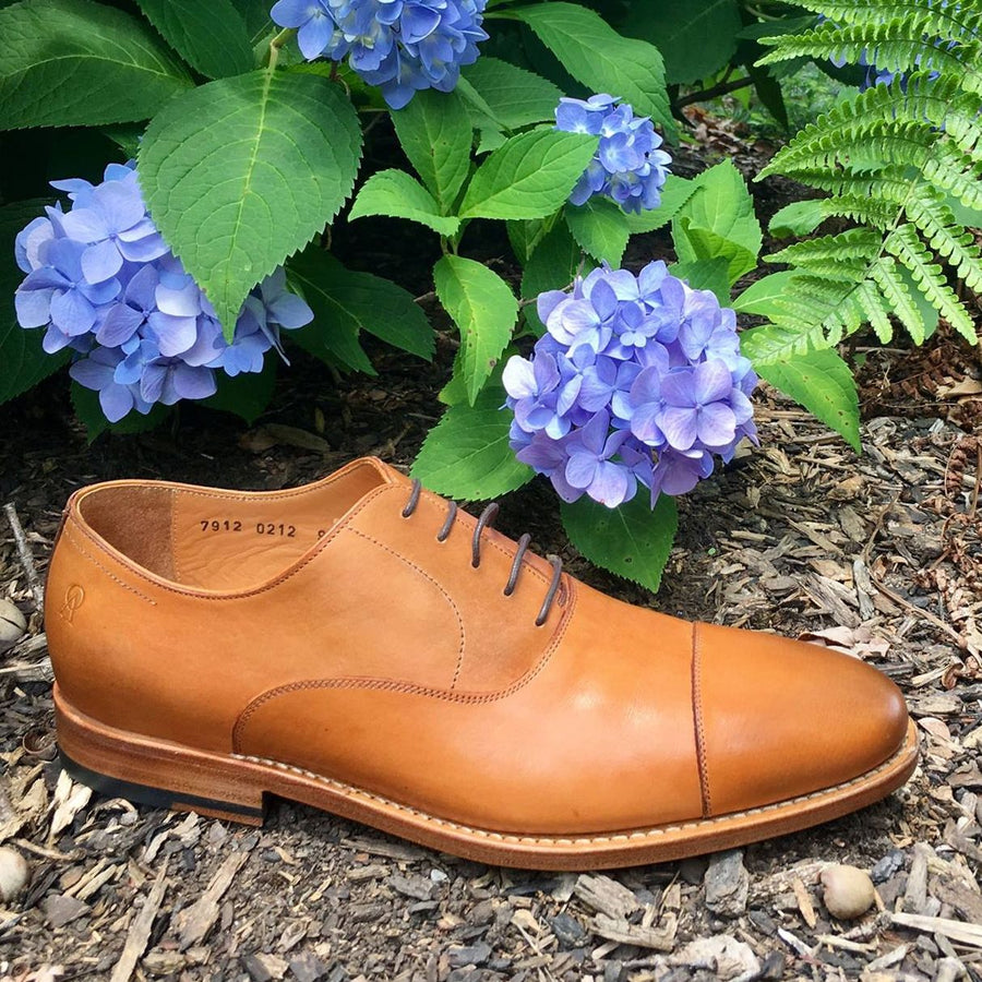 Macon Plain Cap Toe Oxford Shoe in Saddle Tan by Armin Oehler
