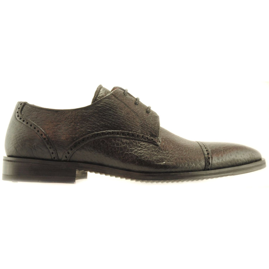 Graves Peccary Cap-Toe Lace Up in Brown by Alan Payne Footwear