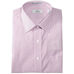 Wrinkle-Free Graph Check Cotton Dress Shirt in Berry by Cooper & Stewart