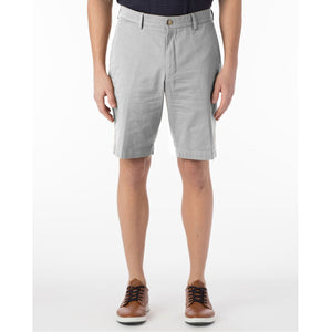 Stretch Cotton Linen Shorts in Cement by Ballin