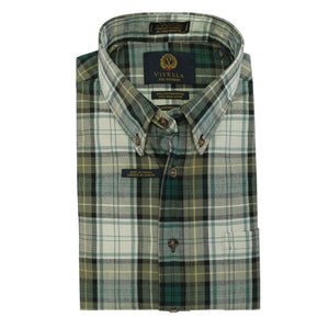 Campbell Dress Ancient Tartan Cotton and Wool Blend Button-Down Shirt by Viyella