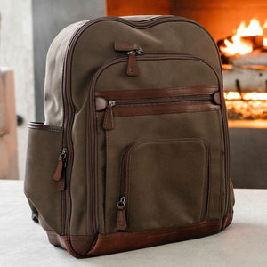 Edward Backpack in Brown Brushed Microfiber by Baekgaard