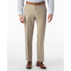 Super 120s Wool Gabardine Comfort-EZE Trouser in Oatmeal (Flat Front Models) by Ballin