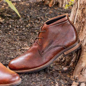 Acadia Deerskin Boot in Chestnut by T.B. Phelps