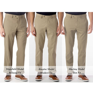 Perma Color Pima Twill Khaki Pants in True Khaki (Relaxed Fit, Size 40) by Ballin