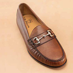 Laguna Sheepskin Bit Loafer in Pecan by T.B. Phelps