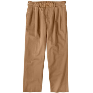 M1P Pleated Relaxed Fit Original Twills in British Khaki by Bills Khakis