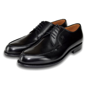 Durham Derby Shoe in Charcoal Black by Armin Oehler