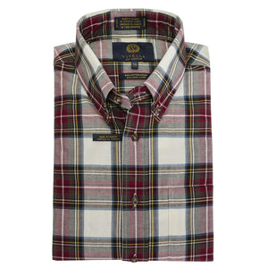 Dress Stewart Tartan Cotton and Wool Blend Button-Down Shirt by Viyella