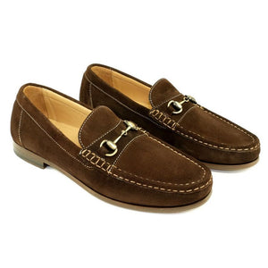 Snaffle Suede Bit Loafer in Brown by Alan Payne Footwear