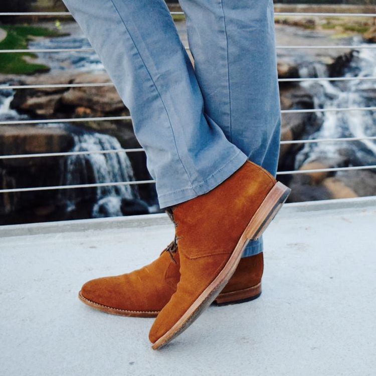 Calabash Boot in Pecan Brown Suede by Armin Oehler
