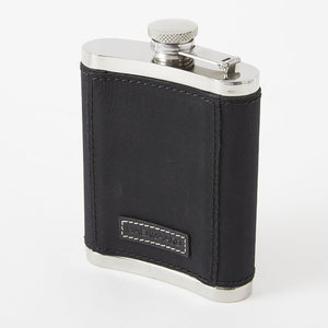 Stainless Steel Flask with Charcoal Black Microfiber Cover by Baekgaard