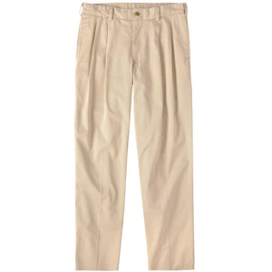 M2P Pleated Classic Fit Chamois Cloth Pants in Khaki by Bills Khakis