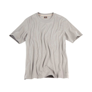 Crew Neck Peruvian Cotton Tee Shirt in Silver by Left Coast Tee
