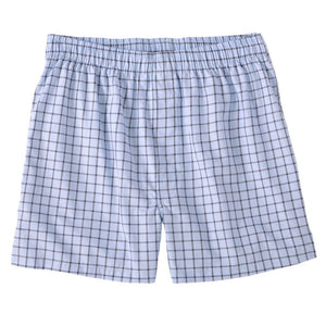 End-On-End Windowpane Cotton Boxer in Brown by Bills Khakis
