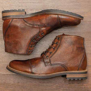 Mansfield Deerskin Boot in Chestnut by T.B. Phelps