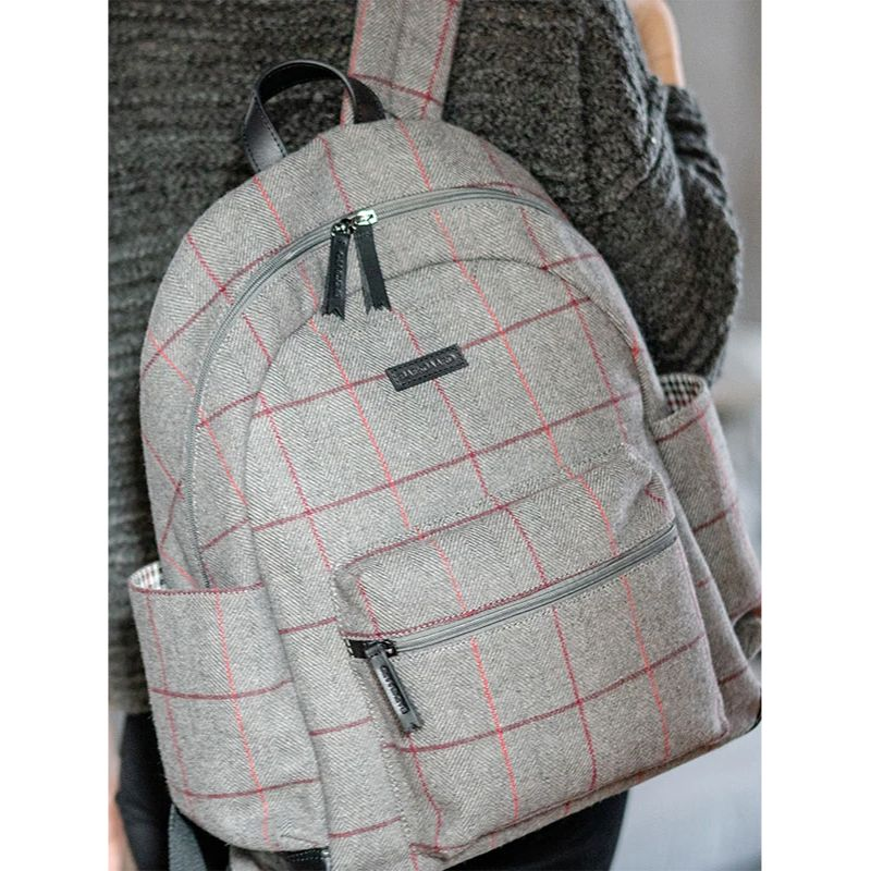 Clark Backpack in Grey Tweed by Baekgaard