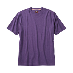 Melange Crew Neck Peruvian Cotton Tee Shirt in Purple Mélange by Left Coast Tee