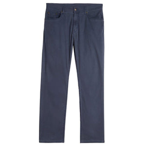 Island Twill 5 Pocket Straight Fit Model in Navy by Bills Khakis