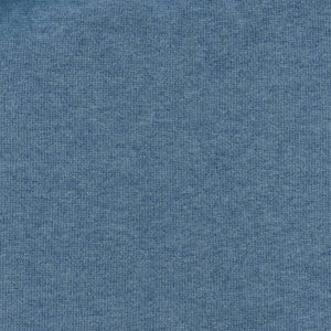 Cotton and Silk Blend Quarter-Zip Mock Neck Elbow Patch Sweater in Blue by Viyella