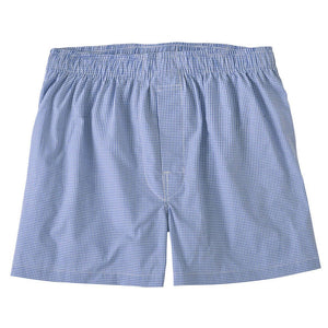Mini Gingham Cotton Boxer in Royal by Bills Khakis