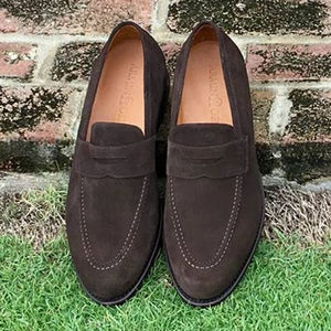 Augusta Loafer in Well-Bred Brown Suede by Armin Oehler