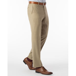 Sharkskin Super 120s Worsted Wool Comfort-EZE Trouser in Camel (Flat Front Models) by Ballin