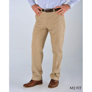M2 Classic Fit T400 Comfort Stretch Twills in Oyster by Bills Khakis