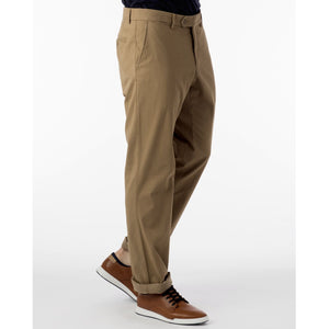 Perma Color Pima Twill Khaki Pants in British Tan (Flat Front Models) by Ballin