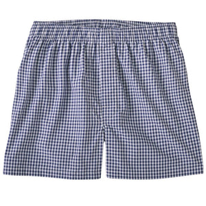 Classic Gingham Cotton Boxer in Navy by Bills Khakis